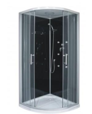 JOE BLACK 90 ROCKY Well Hydromasážní sprchový box s mramorovou vaničkou