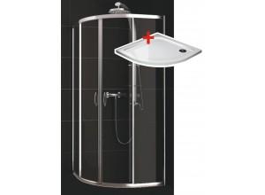 KATY 90 clear ROCKY Well sprchový kout s mramorovou vaničkou