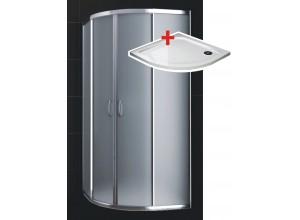 KATY 80 satinato ROCKY Well sprchový kout s mramorovou vaničkou