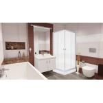 FRANK Q 1590 Well sprchový kout čtvercový s akrylátovou vaničkou