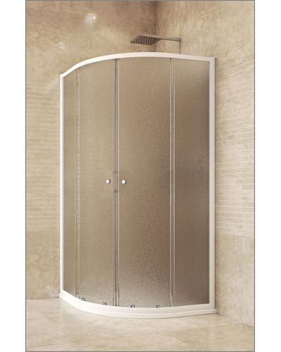 AKČNÍ SET CK35124H + CV01H Mereo Sprchový kout čtvrtkruhový s vaničkou a sifonem
