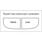 BIANCA 100x80 levá Well Sprchový box