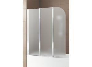 MODERN 3 Chrom Satinato 120,5 - 121,5 x 140 cm Well Vanová zástěna, levá