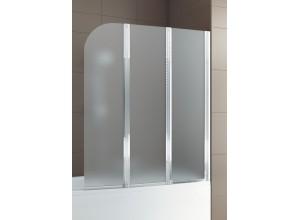 MODERN 3 Chrom Satinato 120,5 - 121,5 x 140 cm Well Vanová zástěna, pravá