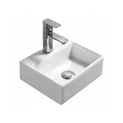 MODESTO mini Well Umyvadlo na desku 33 x 29 bílé