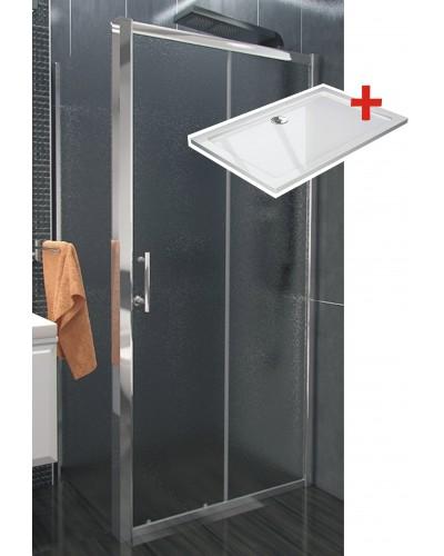 NICOL ROCKY 120x70 grape Well sprchová zástěna obdélníková s mramorovou vaničkou