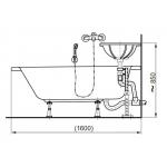 VPSET0018 Nosník pro otočné umyvadlo, včetně montážního příslušenství