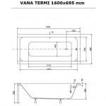 TERMI 160 x 69,5 Olsen-Spa akrylátová vana