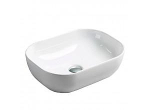 RICARDO Well umyvadlo na desku 45 x 32 cm bílé