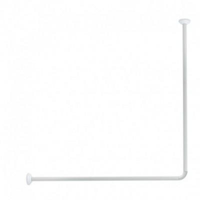 Tyč rohová na sprchový závěs Olsen 80 x 94 - 180 cm - bílá