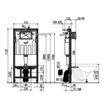 AM101/1120 + M70 Sádromodul AlcaPLAST kompletní instalační set