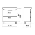 SELLA WHITE 60 Armatura Skříňka s umyvadlem 60cm