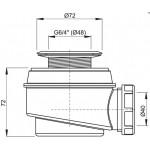 A46/50 AlcaPlast Sifon vaničkový s nerezovou mřížkou pr.50mm