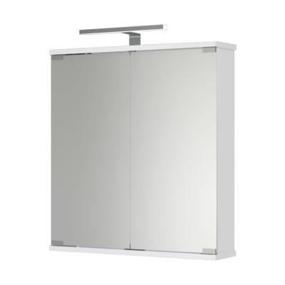 KANDI LED Jokey Zrcadlová skříňka - bílá š. 60 cm, v. 69/65 cm, hl. 14 cm