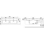 H4536621763001 JIKA Skříňka s umyvadlem 120 cm, s 4 zásuvkami