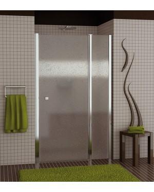 SL13 0900 50 44 SanSwiss Sprchové dveře jednokřídlé s pevnou stěnou 90 cm