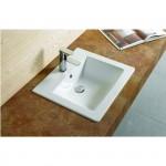 SOLANA Well umyvadlo zápustné 53 x 46 cm bílé