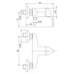 A10 60 01/150 Slim Sprchová nástěnná baterie s hadicí a hlavicí