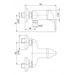 A10 55 00/100 Slim Sprchová nástěnná baterie