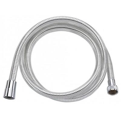 LASER plastová sprchová hadice, hladká, 150cm, chrom/bílá
