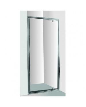 Sprchové dveře do niky SMART - ALARO - 90 x 190 cm, Bez vaničky, Hliník chrom, 6mm grape
