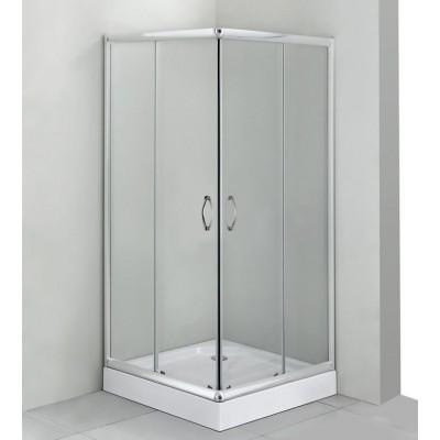 FUNY Q 80 Clear CORN Well Sprchový kout s vaničkou