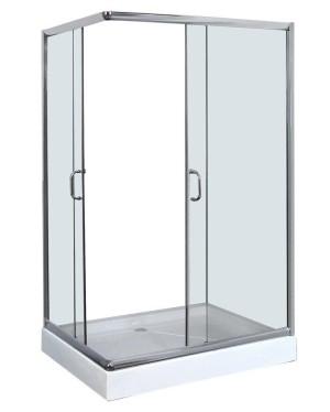 JOSE 100x80 clear Well Sprchový kout obdélníkový, včetně vaničky