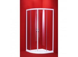 SUE WHITE 100 CLEAR Well Luxusní sprchová zástěna čtvrtkruhová