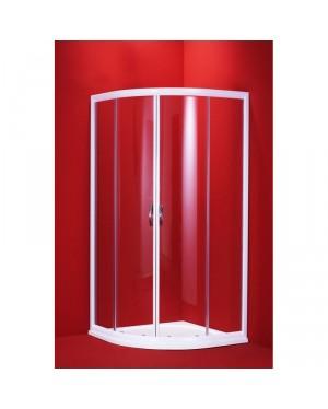 SUE W 100 clear ROCKY Well Luxusní sprchový kout čtvrtkruhový s mramorovou vaničkou