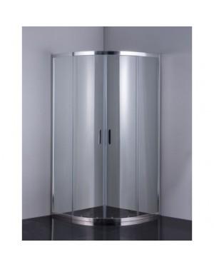 SUE CHROM 80 CLEAR Well Luxusní sprchová zástěna čtvrtkruhová