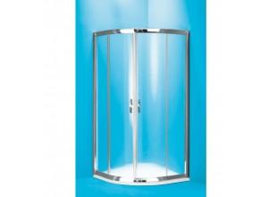 SUE C 80 clear ROCKY Well Luxusní sprchový kout čtvrtkruhový s mramorovou vaničkou