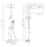 HEDE Well Sprchový set s termostatickou baterií - hranatá