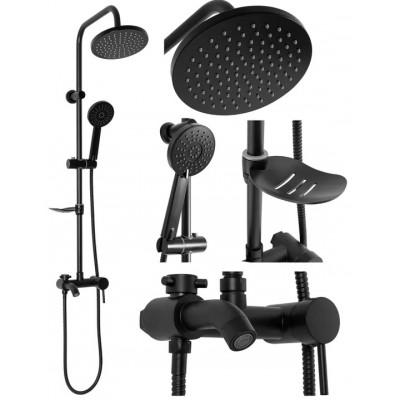 LORRAIN Black Well Sprchový set s baterií a mýdlenkou