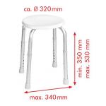 A00603101 Stolička s nastavitelnou výškou, bílá