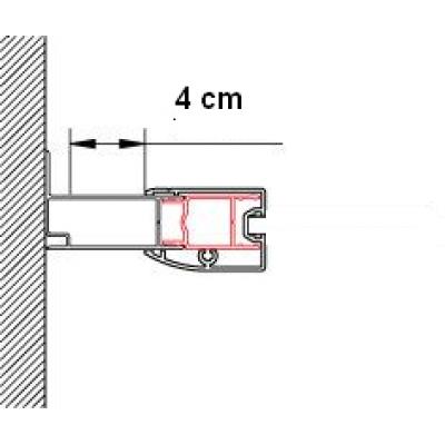 ACT2 1898 01 SanSwiss Rozšiřovací profil o 40 mm, výška 1898 mm, matný elox