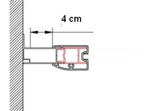 ACT2 1898 50 SanSwiss Rozšiřovací profil o 40 mm, výška 1898 mm, aluchrom