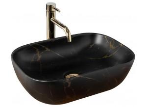 BRICE black marmo Well Umyvadlo na desku, mat