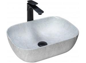 LOURDES stone grey Well Umyvadlo na desku