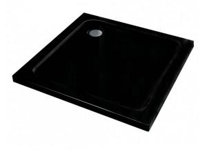 FAUSTA 90 x 90 Well černá Sprchová vanička