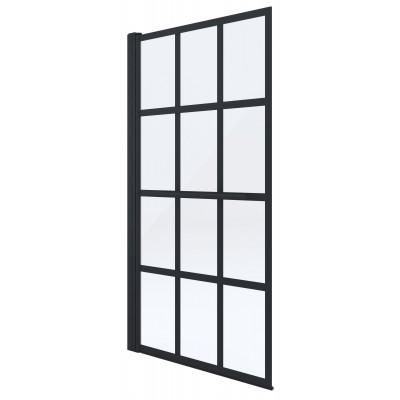 VITAL BLACK 75 x 145 cm Well Vanová zástěna jednodílná, černá