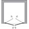 BETA 110 Čiré Well Sprchové dveře do niky dvoukřídlé - Obrázek (3)