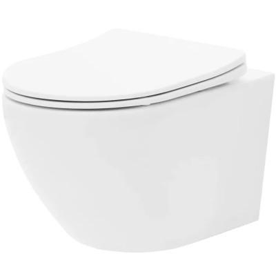 CURT mini RIMLESS WC mísa závěsná včetně sedátka Basic, bílá