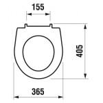JIKA LYRA PLUS H8933813000001 sedátko antibakteriál pro WC kombi SLOWCLOSE, plastové úchyt