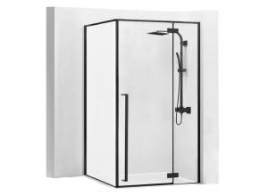 ERGO Black 100x80 Well Luxusní designová Sprchová zástěna
