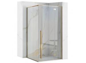 ERGO Gold 100x80 Well Luxusní designová Sprchová zástěna