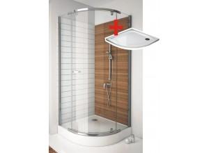 HANNAH ROCKY 90 x 90 cm Well Luxusní čtvrtkruhová sprchová zástěna