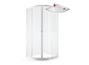 IRIS 90 ROCKY Clear Čtvrtkruhový sprchový kout posuvný