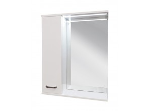 VILIO 80 L Well Zrcadlová skříňka s LED osvětlením, levá