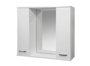 VILIO 80 Well Zrcadlová skříňka s LED osvětlením 80 - 2× skříňka