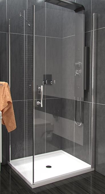 ALFA COMBI 80 x 80 cm Clear Well Luxusní čtvercová sprchová zástěna, skladem, doprava zdarma